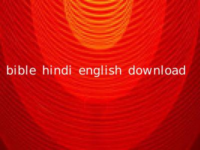 bible hindi english download