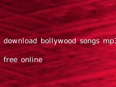 download bollywood songs mp3 free online