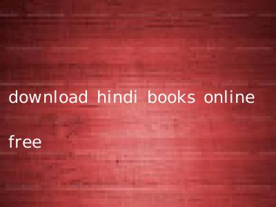 download hindi books online free
