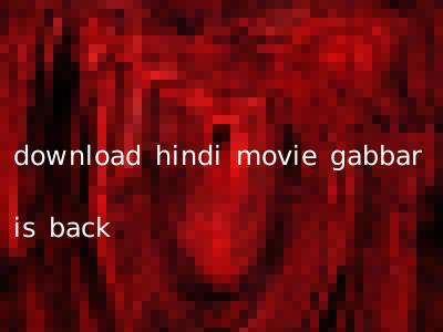 download hindi movie gabbar is back
