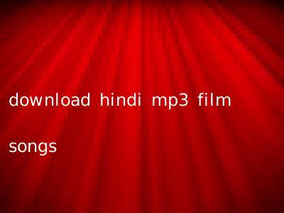 download hindi mp3 film songs