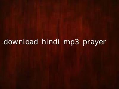 download hindi mp3 prayer