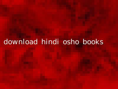 download hindi osho books