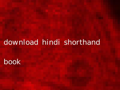 download hindi shorthand book