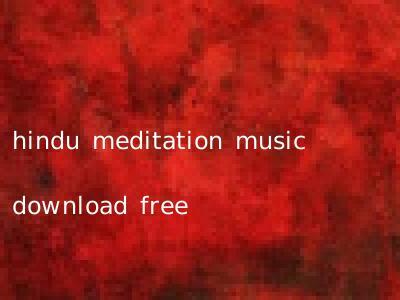 hindu meditation music download free