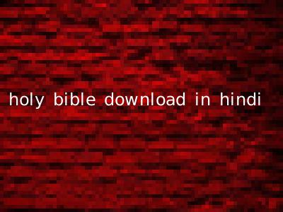 holy bible download in hindi